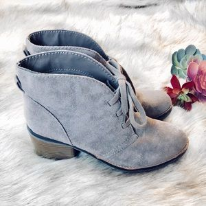 🌿 Merona Taupe Lace-Up Ankle Booties 🌿